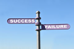Sucesso e falha Imagem de Stock