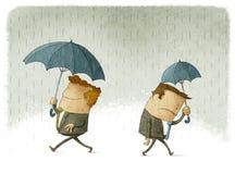 Sucesso e falha no negócio ilustração royalty free