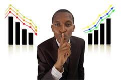 Sucesso e falha secretos imagem de stock