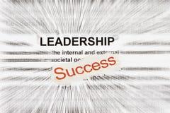 Sucesso e liderança Foto de Stock Royalty Free