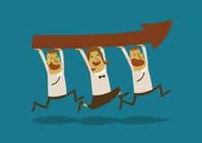Sucesso e trabalhos de equipa do homem de negócios ilustração stock
