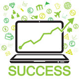 sucesso em linha do negócio Imagens de Stock Royalty Free