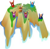 Sucesso global ilustração royalty free