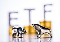 Sucesso na bolsa de valores com ETF imagens de stock
