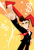 Sucesso no mundo do competidor do negócio Imagem de Stock Royalty Free