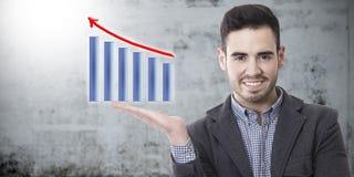 Sucesso no negócio e econômico imagens de stock