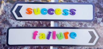 Sucesso ou falha. foto de stock