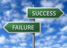 Sucesso ou falha ilustração stock