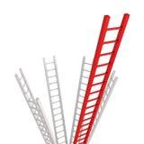 Sucesso ou liderança vermelha do conceito do líder da escada Fotografia de Stock Royalty Free