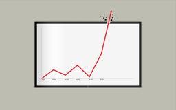 Sucesso ou registro inacreditável em estatísticas do curto período de tempo ilustração stock