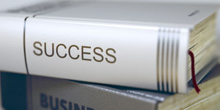 Sucesso - título do livro do negócio 3d Fotos de Stock