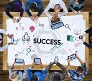 Sucesso Victory Mission Motivation Concept Foto de Stock