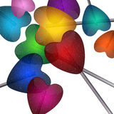 Sucettes colorées Image stock