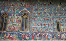 Sucevita修道院绘画细节 图库摄影