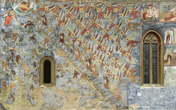 Sucevita kloster Royaltyfria Foton