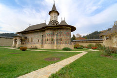 Sucevita Monastery. Is located in the southern part of the historical region of Bukovina. It was built in 1585. The architecture ot the church contains both royalty free stock images
