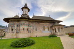 Sucevita Monastery. Is located in the southern part of the historical region of Bukovina. It was built in 1585. The architecture ot the church contains both stock image