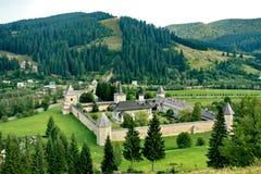Sucevita monastery. The Sucevita monastery in summer royalty free stock photos