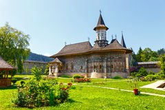 Sucevita Monastery, one of the famous painted monasteries in Romania, Romania. Sucevita Monastery, one of the famous painted monasteries in Romania, Unesco Stock Photography