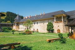 The Sucevita Monastery in Romania. The Sucevita Monastery is a Romanian Orthodox monastery situated in the commune of Sucevitai, Romania Royalty Free Stock Photo