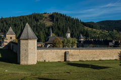 Sucevita monastery's defence wall. In Bukovina, (Bucovina), Moldavia (Moldova Royalty Free Stock Photo