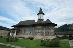 Sucevita orthodox Monastery in Romania Stock Image