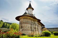 Sucevita orthodox Romanian monastery landmark Stock Photography