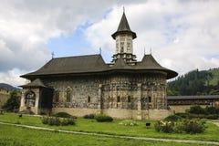 Sucevita ortodox målad kyrklig kloster, Moldavien, Bucovina, fotografering för bildbyråer