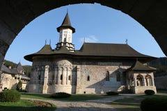 Sucevita. Painted monastery in Bucovina Country Stock Photo