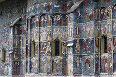 Sucevita,Voronet, Monastery, the famous painted monasterie in Romania Stock Images