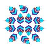 Such 3d cubes purple with arrow, logo design. Vector illustration.  Stock Photos