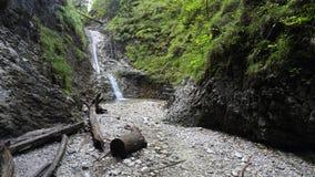 Sucha Bela gorge in Slovensky raj National park , Slovakia Royalty Free Stock Photo