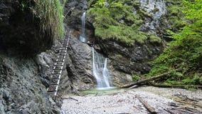 Sucha Bela gorge in Slovensky raj National park , Slovakia stock image