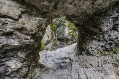 Sucha Bela through large hole in the rock washed with water Stock Image