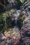 Sucha Bela trail in Slovak Paradise. Sucha Bela famous hiking trail in park called Slovak Paradise, Slovakia stock images