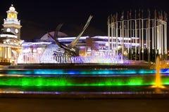 Sucha fontanna przy Crimea bulwarem Zdjęcia Royalty Free