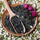 Sucha herbata Kwitnie skład Zdjęcia Stock