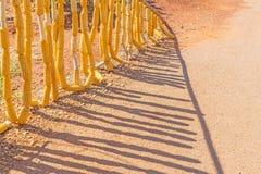 Sucha kukurudza wykładał na stronie droga Obrazy Stock