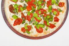 Sucha pomidor pizza Obrazy Royalty Free