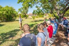 Sucha Tortugas parka narodowego wycieczka turysyczna w forcie Jefferson obrazy royalty free