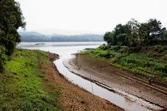 Sucha Vistula rzeka zdjęcia stock