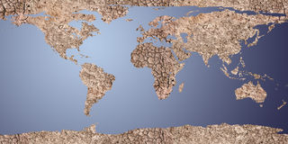 Sucha ziemia wystawiająca jako 2d mapa royalty ilustracja