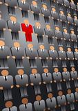 Suchauserlesener Leute-Führer Business Background Stockbilder