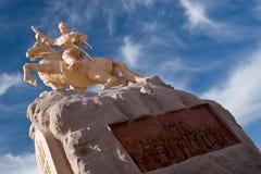 suchbaatar staty Arkivfoto