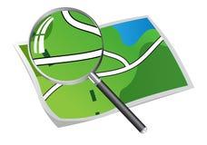 Suche in der Karte Stockfotografie