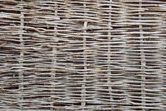 Suche gałązki chrustowy ogrodzenie Obrazy Royalty Free