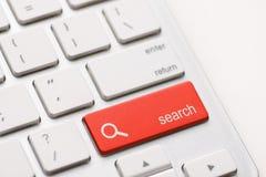 Suche geben Knopfschlüssel ein Lizenzfreies Stockfoto