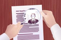 Suche Job Applications /Resume Stockbild