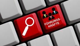 Suche nach der Führungskräfte Deutschem online Lizenzfreies Stockbild