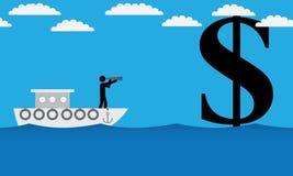 Suche nach Geld Lizenzfreie Stockfotografie
